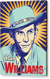 Hank Williams Pop Art Acrylic Print by Jim Zahniser