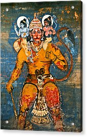 Hanuman Acrylic Print by Kurt Van Wagner