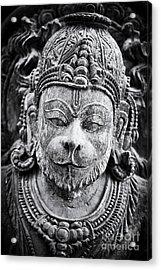 Hanuman Monochrome Acrylic Print by Tim Gainey