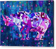 Happened At The Zoo Acrylic Print by Jack Zulli