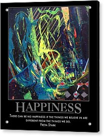 Happiness Sold Acrylic Print by Sylvia Greer