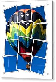 Happy Balloon Ride Acrylic Print by Edward Fielding