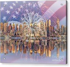 Happy Birthday America Acrylic Print by Susan Candelario