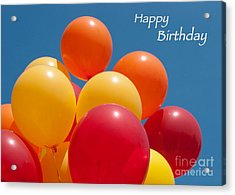 Happy Birthday Balloons Acrylic Print by Ann Horn