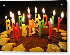 Happy Birthday Candles Acrylic Print by Lars Ruecker
