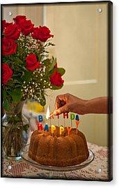 Happy Birthday  Acrylic Print by Harold E McCray