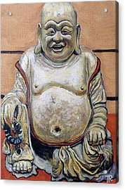 Happy Buddha  Acrylic Print by Tom Roderick