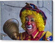 Happy Clown Acrylic Print by Susan Candelario