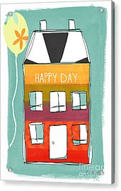Happy Day Card Acrylic Print by Linda Woods