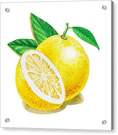 Happy Grapefruit- Irina Sztukowski Acrylic Print by Irina Sztukowski