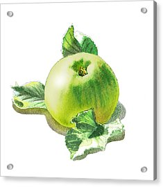 Happy Green Apple Acrylic Print by Irina Sztukowski
