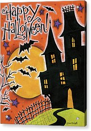 Happy Halloween Acrylic Print by Anne Tavoletti