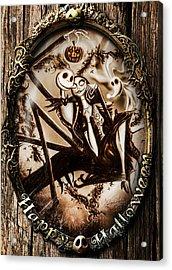 Happy Halloween IIi Sepia Version Acrylic Print by Alessandro Della Pietra