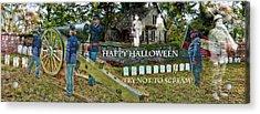 Happy Halloween-try Not To Scream Acrylic Print by EricaMaxine  Price