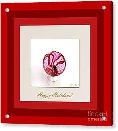 Happy Holidays. Red Poppy Acrylic Print by Oksana Semenchenko
