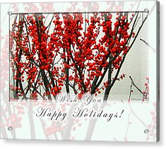 Happy Holidays Acrylic Print by Xueling Zou