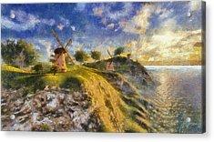 Happy Mills Acrylic Print by Marina Likholat