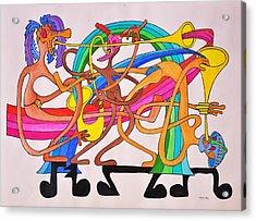 Happy People Horns Acrylic Print by Glenn Calloway