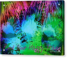 Happy Place 1 Acrylic Print by Michelle Stradford