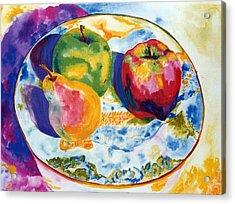 Happy Trio In Chinese Bowl Acrylic Print by Lisa Boyd