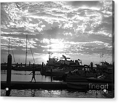 Harbour Clouds Acrylic Print by WaLdEmAr BoRrErO