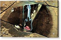 Hard Rock Cafe Reflection Acrylic Print by Ronda Broatch
