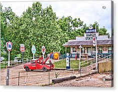 Hardy Station Acrylic Print by Audreen Gieger-Hawkins