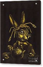Hare Acrylic Print by Suzette Broad