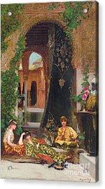 Harem Women Acrylic Print by Jean Joseph Benjamin Constant