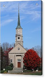 New England Acrylic Print featuring the photograph Harkness Chapel At Connecticut College by Juergen Roth