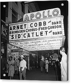 Harlem's Apollo Theater Acrylic Print by Underwood Archives Gottlieb