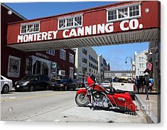 Harley Davidson At Monterey Cannery Row California 5d25024 Acrylic Print by Wingsdomain Art and Photography