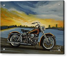 Harley Davidson Duo Glide Acrylic Print by Paul Meijering