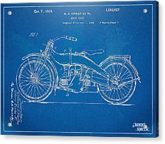 Harley-davidson Motorcycle 1924 Patent Artwork Acrylic Print by Nikki Marie Smith