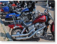 Harley Davidson Acrylic Print by Frozen in Time Fine Art Photography