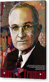 Harry S. Truman Acrylic Print by Corporate Art Task Force