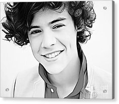 Harry Styles Acrylic Print by The DigArtisT