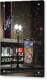 Hart In The Snow - Grants Pass Acrylic Print by Mick Anderson