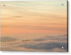 Harter Fell Above The Clouds Acrylic Print by Ashley Cooper
