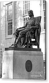 John Harvard Statue At Harvard University Acrylic Print by University Icons
