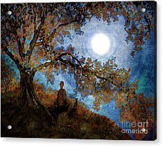 Harvest Moon Meditation Acrylic Print by Laura Iverson