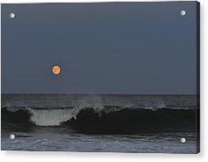 Harvest Moon Seaside Park Nj Acrylic Print by Terry DeLuco