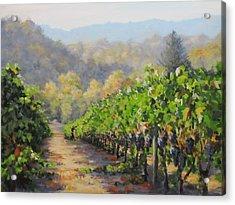 Harvest Morning Acrylic Print by Karen Ilari