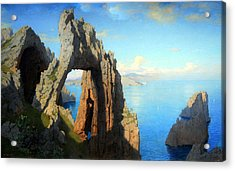 Haseltine's Natural Arch At Capri Acrylic Print by Cora Wandel