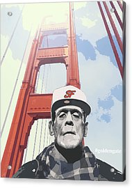 Hashtag Goldengate Frankie's Selfie Acrylic Print by Filippo B