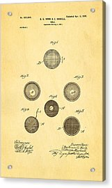 Haskell Wound Golf Ball Patent 1899 Acrylic Print by Ian Monk