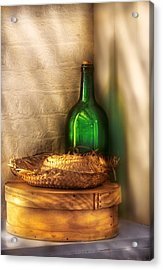 Hat Maker - A Hat Box And It's Hat  Acrylic Print by Mike Savad