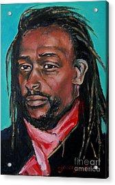 Hat Man - Portrait Acrylic Print by Grace Liberator