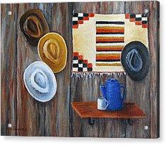 Hats Acrylic Print by Roseann Gilmore