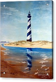 Hatteras Lighthouse Acrylic Print by Lee Piper